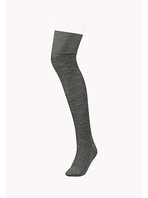 TOMMY HILFIGER TH WOMEN PREP OVERKNEE 1P - MIDDLE GREY MELANGE - TOMMY HILFIGER Socks & Hosiery - main image
