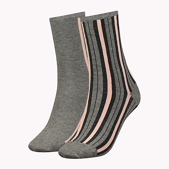 TOMMY HILFIGER TH WOMEN VERTICAL STRIPE SOCK 2P - WHITE - TOMMY HILFIGER Clothing - main image
