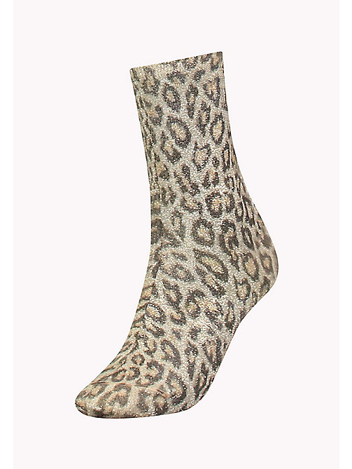 TOMMY HILFIGER TH WOMEN LEOPARD SOCK 1P - GOLD - TOMMY HILFIGER Vetements - image principale