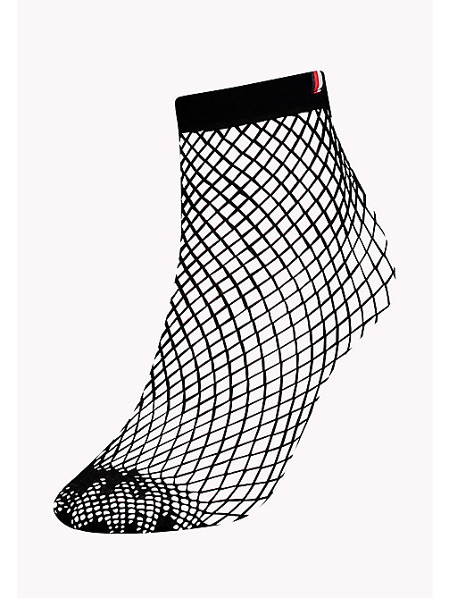 TOMMY HILFIGER TH WOMEN FISHNET SOCK 1P - BLACK - TOMMY HILFIGER Sokken & Panty's - main image