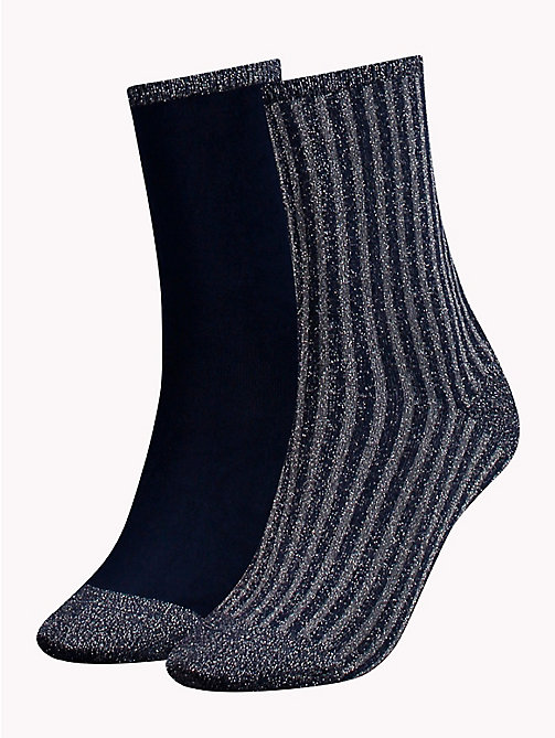 TOMMY HILFIGER 2-Pack Glitter Socks - MIDNIGHT BLUE - TOMMY HILFIGER Stocking Stuffers - main image