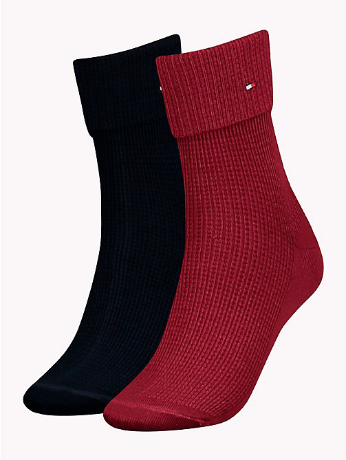 TOMMY HILFIGER Lot de 2 paires de chaussettes retroussables - RED / YELLOW / BLUE - TOMMY HILFIGER Petites attentions - image principale
