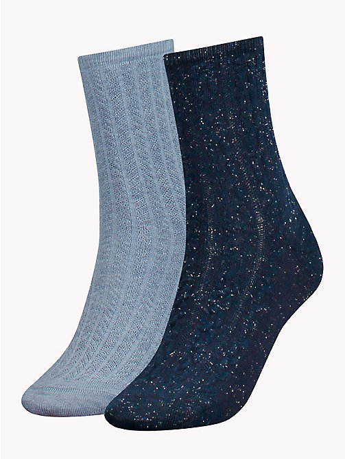 TOMMY HILFIGER 2-Pack Knitted Socks - MIDNIGHT BLUE -  Stocking Stuffers - main image