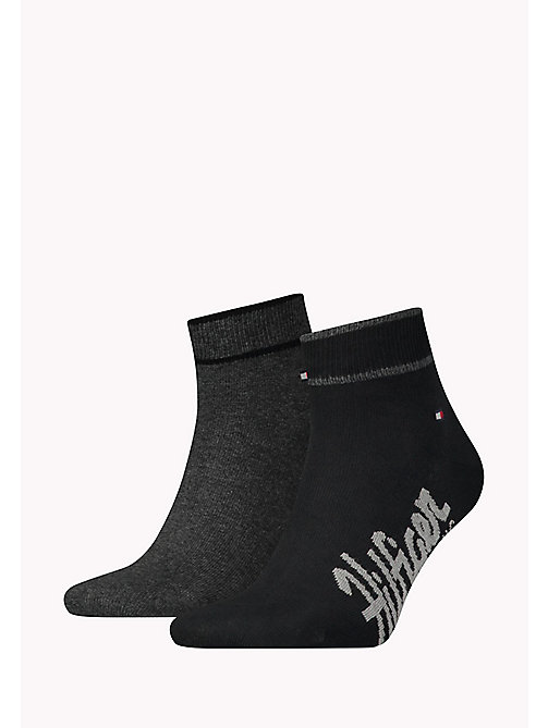 TOMMY HILFIGER 2 Pack Sneaker Socks - BLACK - TOMMY HILFIGER Socks - main image