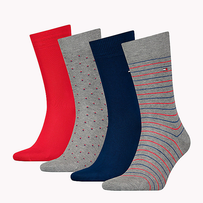 TOMMY HILFIGER 4-Pack Printed Socks Gift Box - BLACK - TOMMY HILFIGER Men - detail image 1
