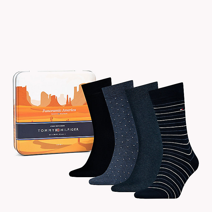 TOMMY HILFIGER 4-Pack Printed Socks Gift Box - TOMMY ORIGINAL - TOMMY HILFIGER Men - detail image 2