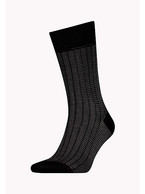 TOMMY HILFIGER 1-Pack Chequered Print Socks - BLACK - TOMMY HILFIGER Socks - main image