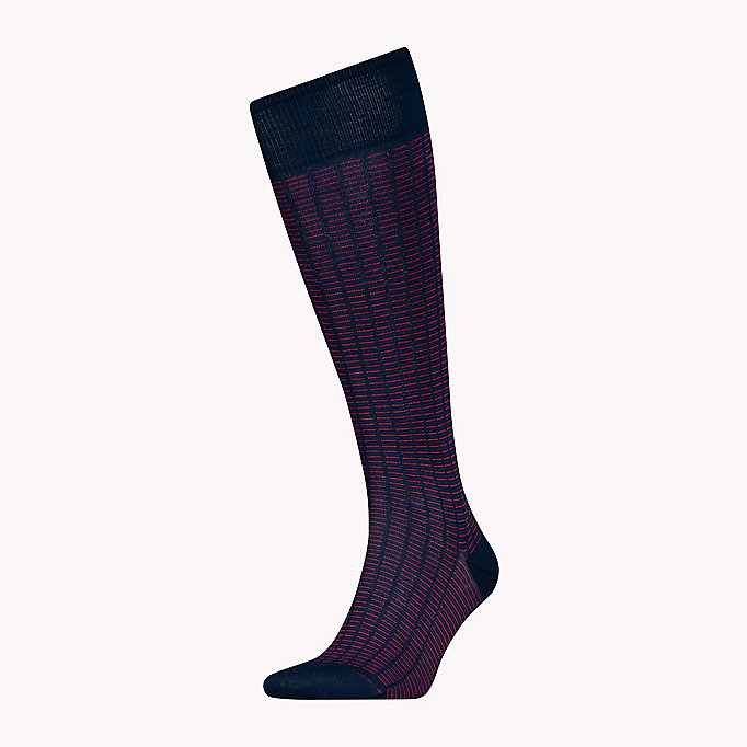 TOMMY HILFIGER 1-Pack Colour-Blocked Knee High Socks - BLACK - TOMMY HILFIGER Men - main image
