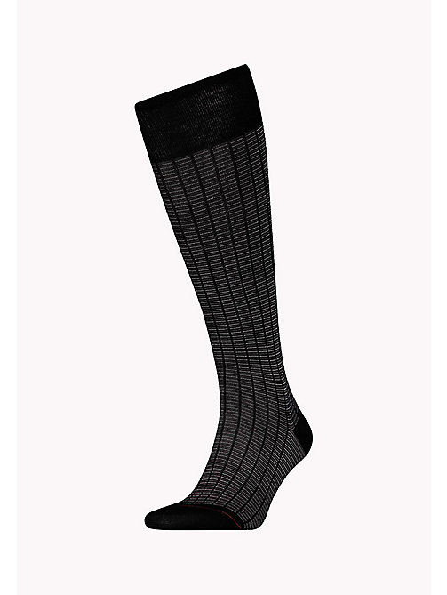 TOMMY HILFIGER 1-Pack Colour-Blocked Knee High Socks - BLACK - TOMMY HILFIGER Socks - main image