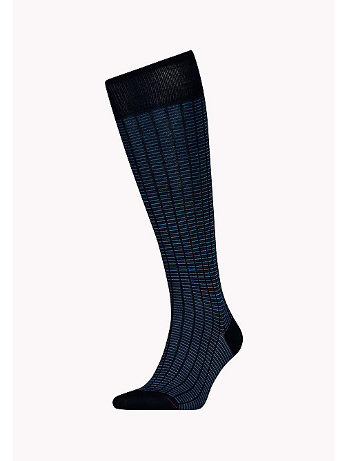 TOMMY HILFIGER 1-Pack Colour-Blocked Knee High Socks - DARK NAVY - TOMMY HILFIGER Socks - main image