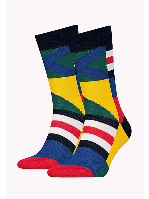 TOMMY HILFIGER 1-Pack Colour-Blocked Print Socks - TOMMY ORIGINAL - TOMMY HILFIGER Socks - main image
