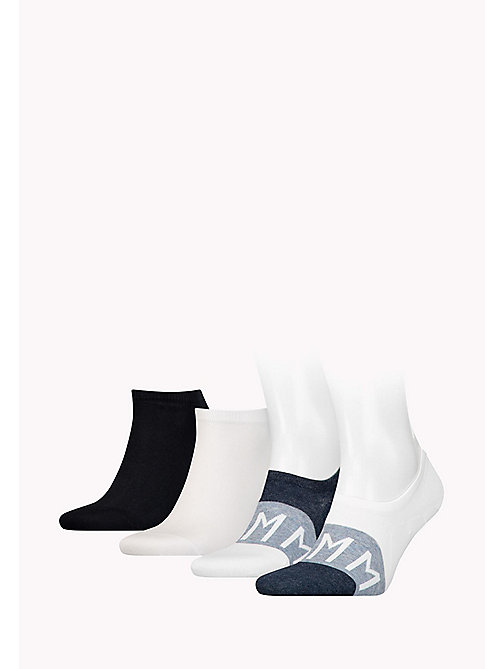 TOMMY HILFIGER 4-Pack Trainer Sock Gift Box - WHITE - TOMMY HILFIGER Socks - detail image 1