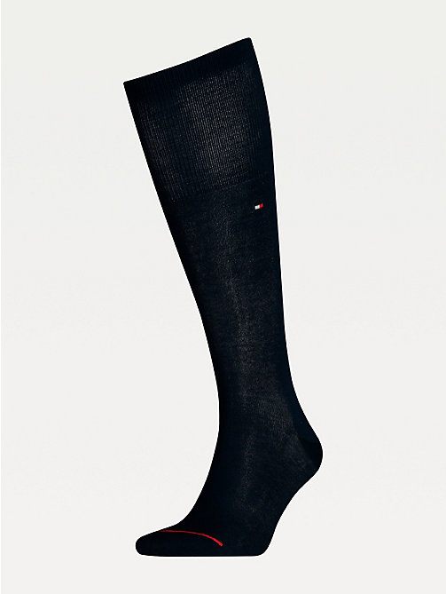 TOMMY HILFIGER TH MEN TAILORED MERCERIZED KNEEHIGH1P - DARK NAVY - TOMMY HILFIGER Chaussettes - image principale