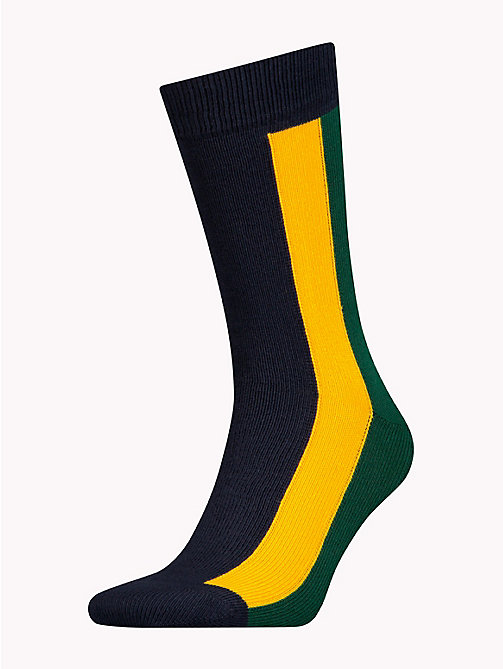 TOMMY HILFIGER Colour-Blocked Stripe Socks - YELLOW - TOMMY HILFIGER Stocking Stuffers - main image