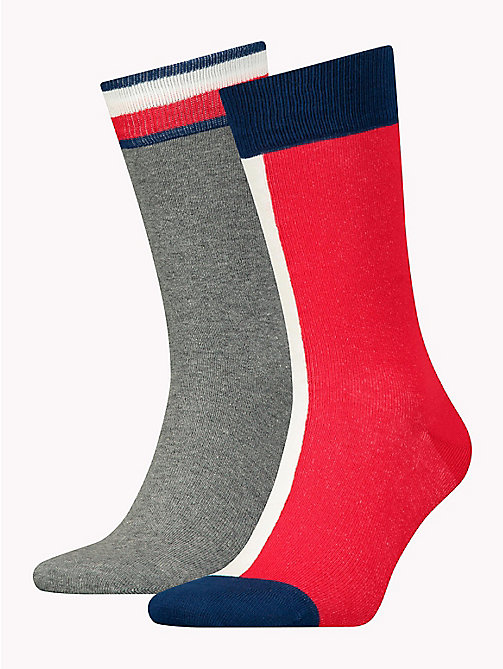 TOMMY HILFIGER 2-Pack Signature Crew Socks - TOMMY ORIGINAL - TOMMY HILFIGER Socks - main image