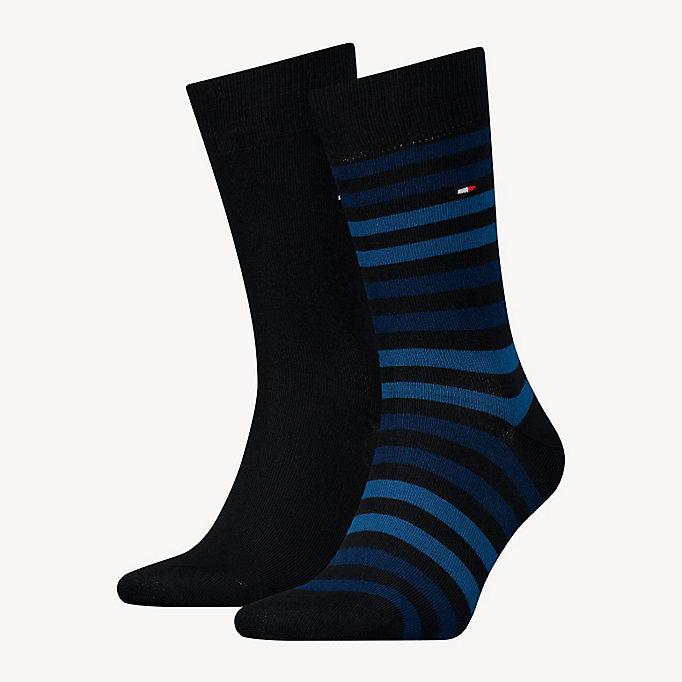 TOMMY HILFIGER TH MEN DUO STRIPE SOCK 2P - JEANS - TOMMY HILFIGER Odzież - main image