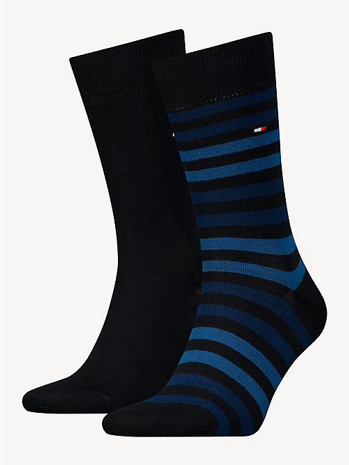 TOMMY HILFIGER TH MEN DUO STRIPE SOCK 2P - DARK NAVY - TOMMY HILFIGER Socks - main image