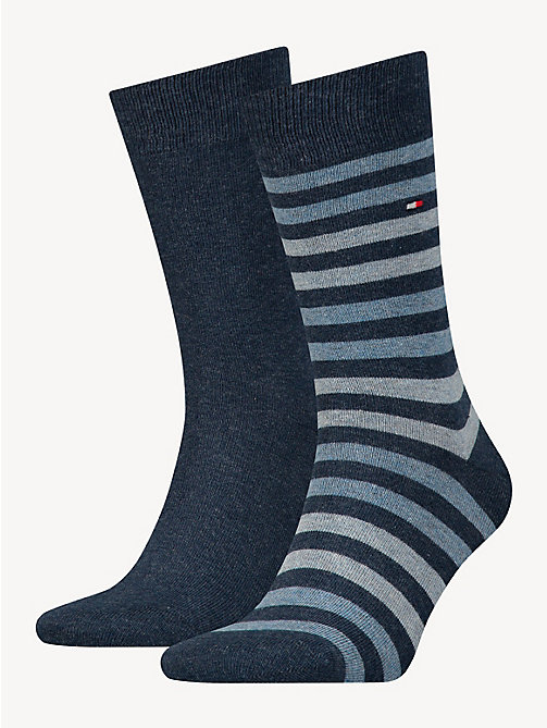 TOMMY HILFIGER TH MEN DUO STRIPE SOCK 2P - JEANS - TOMMY HILFIGER Socks - main image