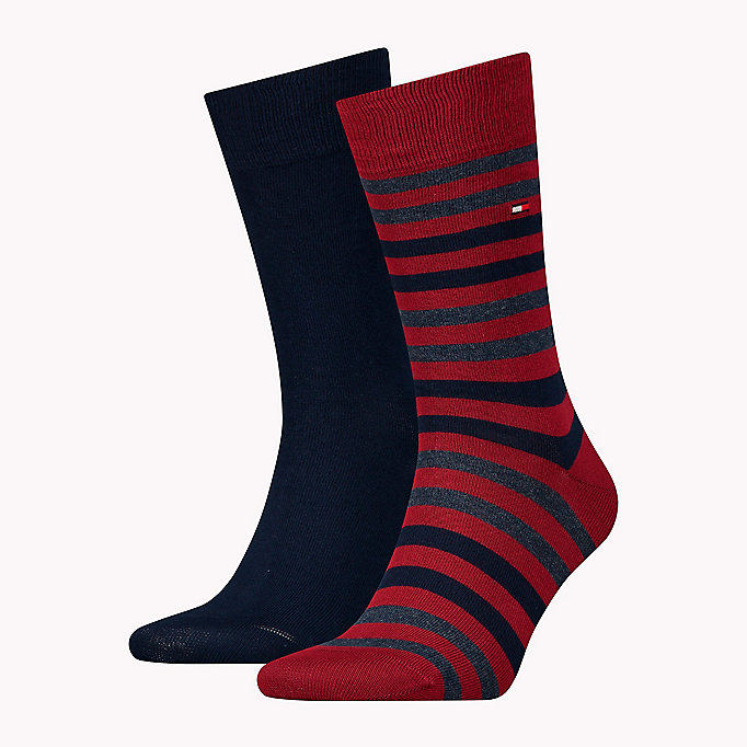 TOMMY HILFIGER TH MEN DUO STRIPE SOCK 2P - BLACK - TOMMY HILFIGER Odzież - main image