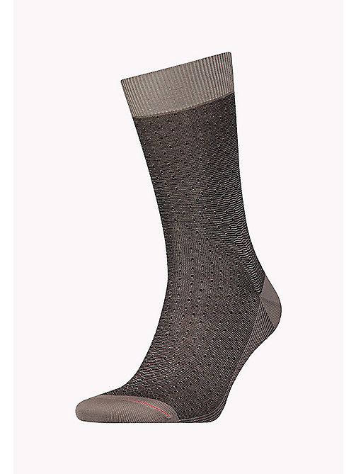 TOMMY HILFIGER TH MEN STRUCTURE SOCK 1P - BLACK - TOMMY HILFIGER Chaussettes - image principale