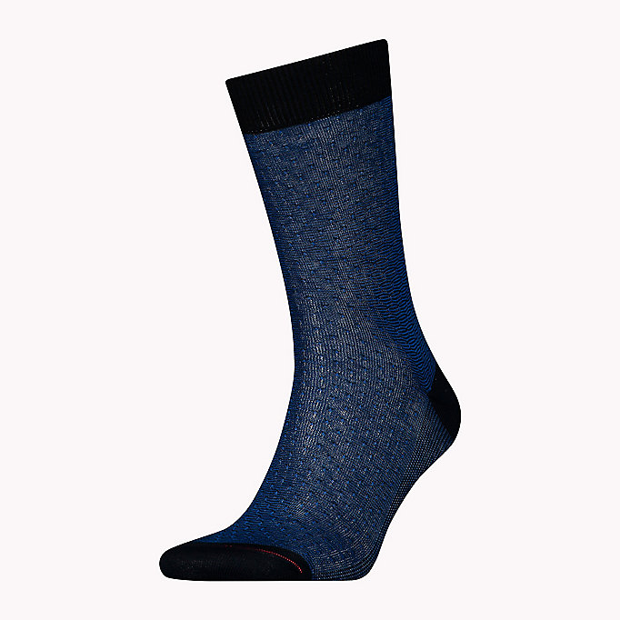 TOMMY HILFIGER TH MEN STRUCTURE SOCK 1P - BLACK - TOMMY HILFIGER Men - main image
