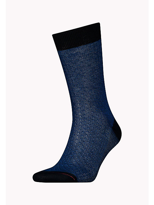TOMMY HILFIGER TH MEN STRUCTURE SOCK 1P - DARK NAVY - TOMMY HILFIGER Chaussettes - image principale