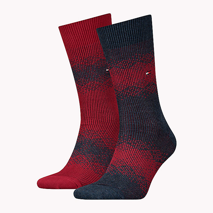 TOMMY HILFIGER TH MEN FAIRISLE SOCK 2P - SALUTE / MONK'S ROBE - TOMMY HILFIGER Men - main image