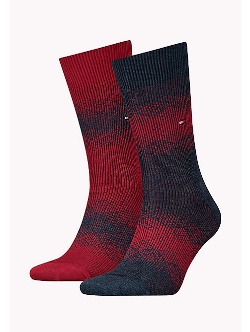 TOMMY HILFIGER TH MEN FAIRISLE SOCK 2P - JEANS - TOMMY HILFIGER Socks - main image