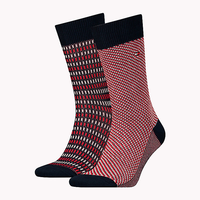 TOMMY HILFIGER TH MEN THREE TONE SOCK 2P - SALUTE / MONK'S ROBE - TOMMY HILFIGER Men - main image