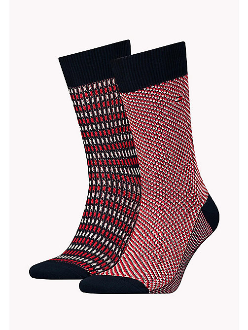 TOMMY HILFIGER TH MEN THREE TONE SOCK 2P - TOMMY ORIGINAL - TOMMY HILFIGER Socks - main image