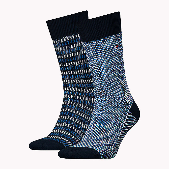 TOMMY HILFIGER TH MEN THREE TONE SOCK 2P - TOMMY ORIGINAL - TOMMY HILFIGER Men - main image