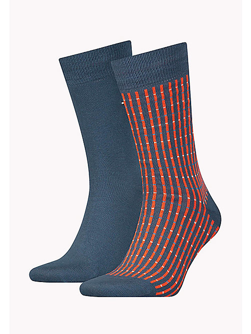 TOMMY HILFIGER TH MEN ANTSTREET SOCK 2P - BLUE COMBO - TOMMY HILFIGER Socks - main image