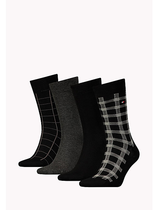 TOMMY HILFIGER TH MEN CABIN BOX 4P - BLACK - TOMMY HILFIGER Socks - main image