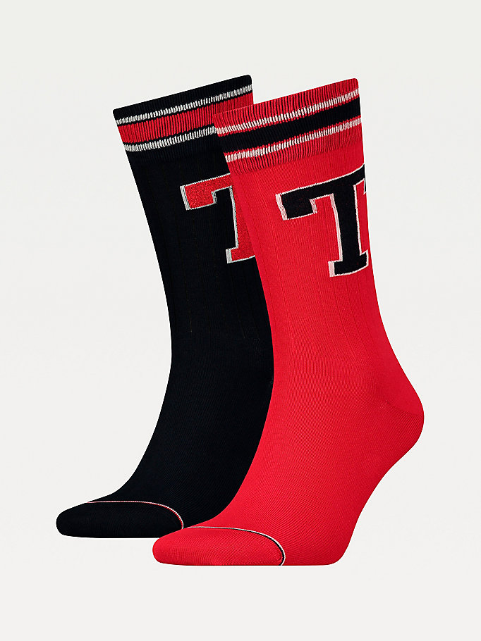 TOMMY HILFIGER 2-Pack Tommy Hilfiger Patch Socks - GREEN - TOMMY HILFIGER Men - main image