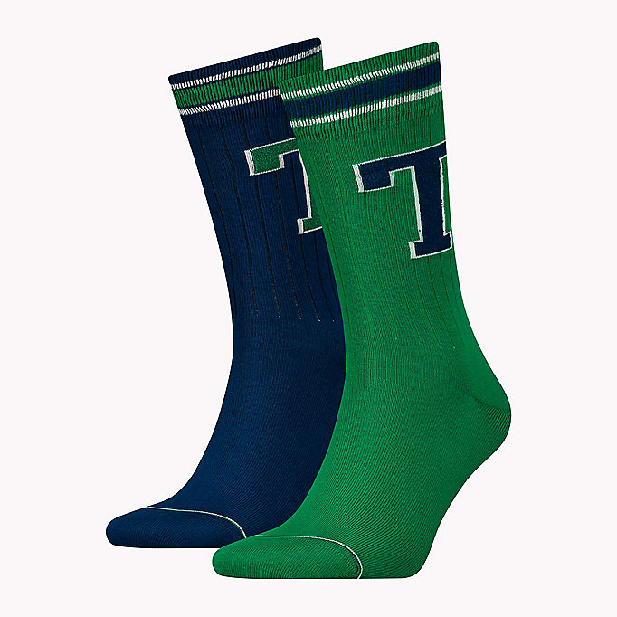 TOMMY HILFIGER 2-Pack Tommy Hilfiger Patch Socks - MIDDLE GREY MELANGE - TOMMY HILFIGER Men - main image