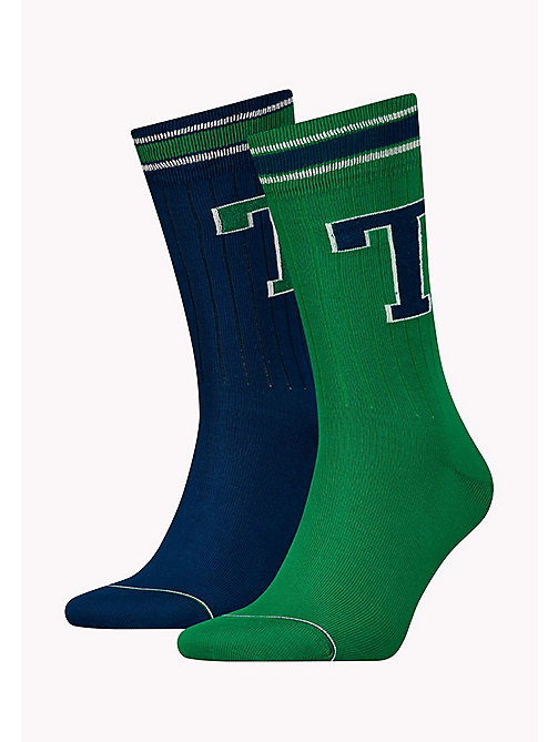 TOMMY HILFIGER TH MEN TH PATCH SOCK 2P - GREEN - TOMMY HILFIGER Socks - main image