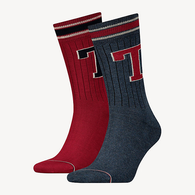 TOMMY HILFIGER 2-Pack Tommy Hilfiger Patch Socks - TOMMY ORIGINAL - TOMMY HILFIGER Men - main image