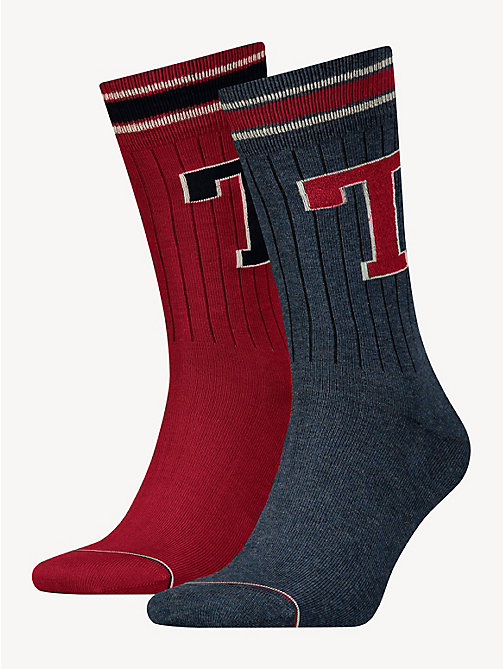 TOMMY HILFIGER TH MEN TH PATCH SOCK 2P - JEANS - TOMMY HILFIGER Socks - main image