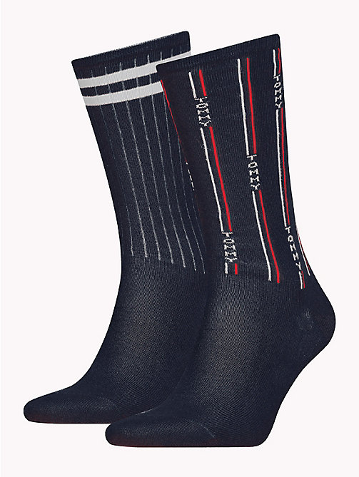 TOMMY HILFIGER TH DENIM THE ACE SOCK 2P - DARK NAVY - TOMMY HILFIGER Calzini - immagine principale