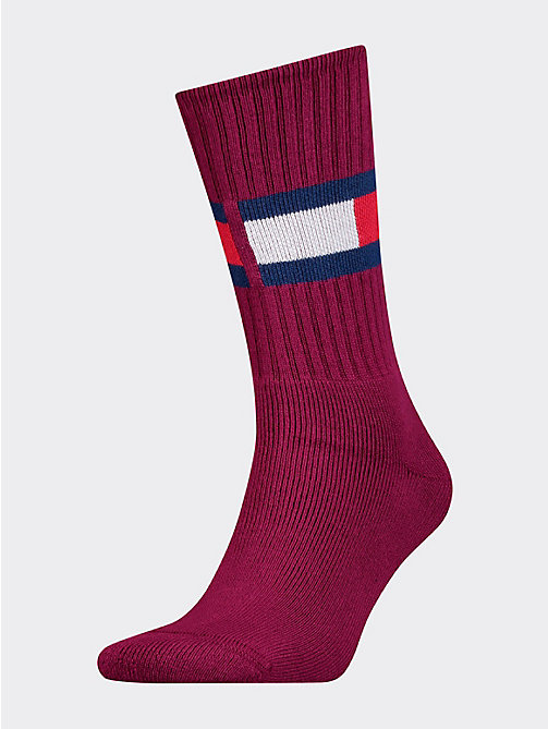 7898c44a7f473 red 1-pack flag socks for men tommy hilfiger