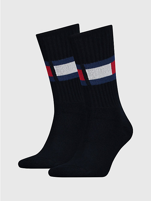 TOMMY HILFIGER Cotton Blend Flag Socks - DARK NAVY - TOMMY HILFIGER Underwear & Socks - main image