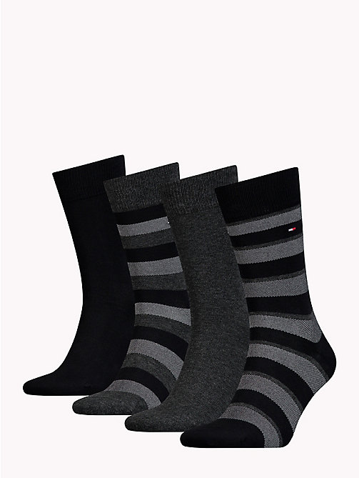 TOMMY HILFIGER 4-Pack Socks - BLACK - TOMMY HILFIGER Underwear & Swimwear - detail image 1