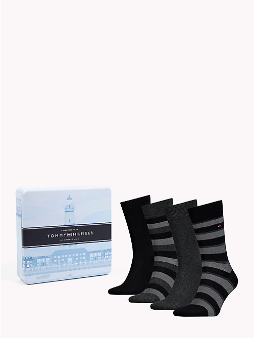 TOMMY HILFIGER 4-Pack Socks - BLACK - TOMMY HILFIGER Underwear & Swimwear - main image