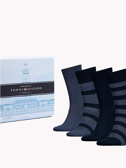 TOMMY HILFIGER 4-Pack Socks - DARK NAVY - TOMMY HILFIGER Stocking Stuffers - main image