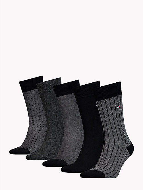 TOMMY HILFIGER 5-Pack Socks - BLACK - TOMMY HILFIGER Socks - detail image 1