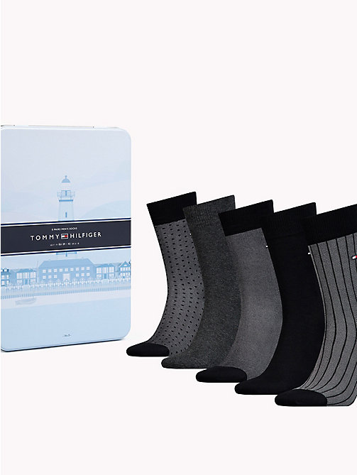 TOMMY HILFIGER 5-Pack Socks - BLACK - TOMMY HILFIGER Stocking Stuffers - main image