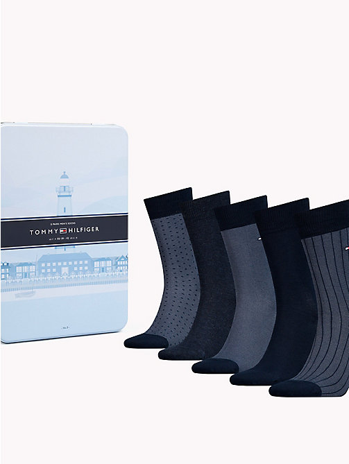 TOMMY HILFIGER 5-Pack Socks - DARK NAVY - TOMMY HILFIGER Socks - main image