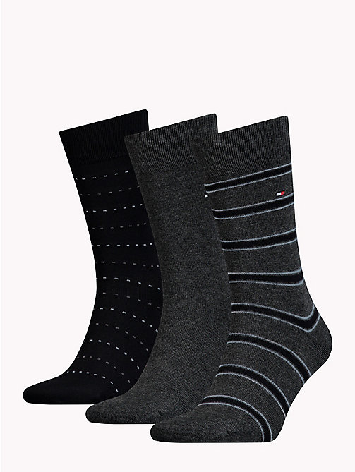 TOMMY HILFIGER 3-Pack Socks - BLACK - TOMMY HILFIGER Stocking Stuffers - detail image 1
