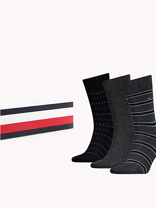 TOMMY HILFIGER 3-Pack Socks - BLACK - TOMMY HILFIGER Stocking Stuffers - main image