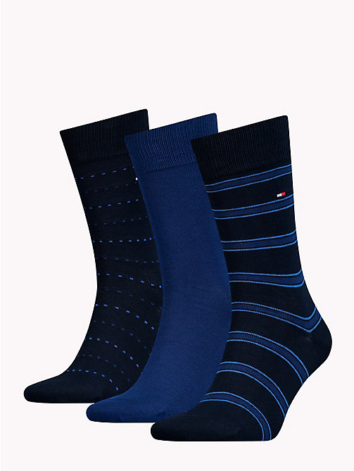 TOMMY HILFIGER 3-Pack Socks - DARK NAVY - TOMMY HILFIGER Stocking Stuffers - detail image 1